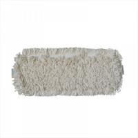 МОП плоский 50х16 см, хлопок, ухо+карман, белый