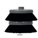 Мягкая черная щетка, волокна 0,25, 4 дюйма, 2 шт.