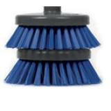 Стандартная голубая щетка, волокна 0,25, 4 дюйма, 2 шт.